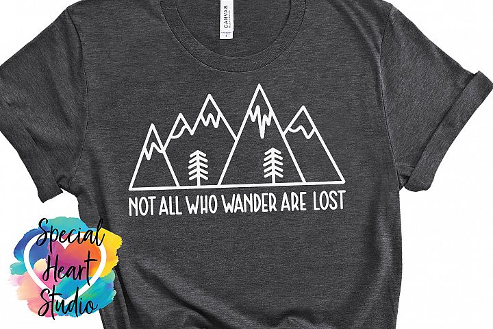 Not all who wander are lost - A hand lettered travel SVG