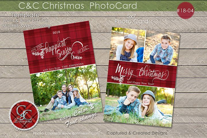 C&C Christmas Photo Card 18-04