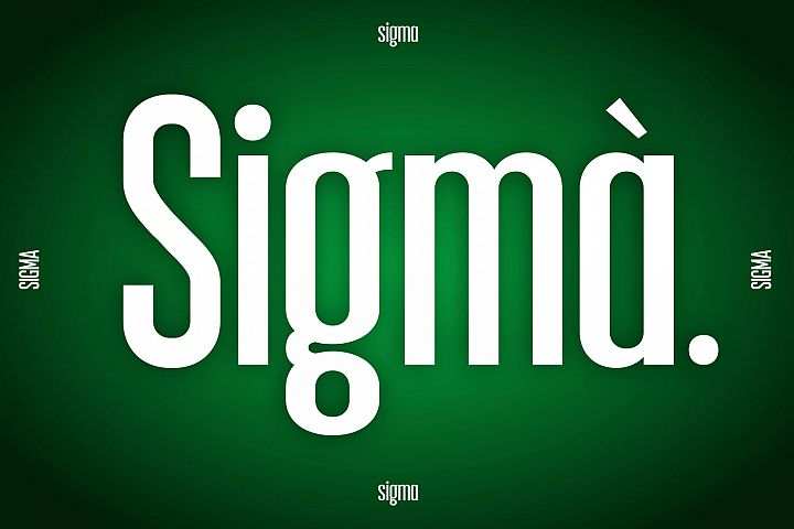 Sigma Display Font