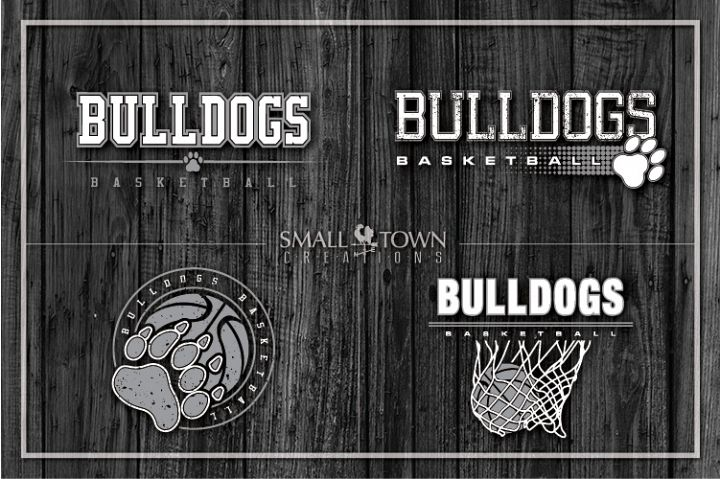 Basketball bundle, Bulldogs mascot, team, PRINT, CUT, DESIGN