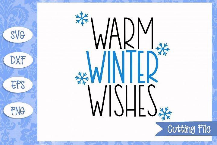 Warm winter wishes SVG File