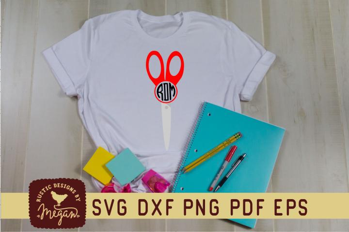 Back To School Scissors Monogram SVG