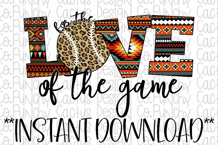 For the Love of the Game Sublimation Download, Baseball