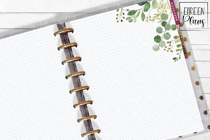 Set of greenery notes for the Classic Happy Planner