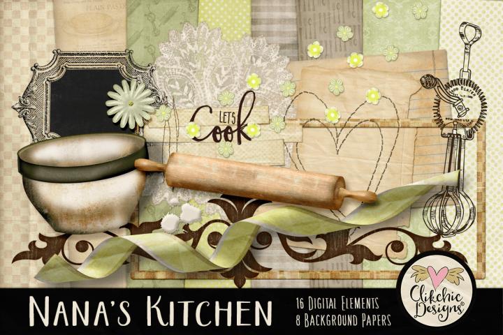 Nanas Kitchen Digital Scrapbook Kit
