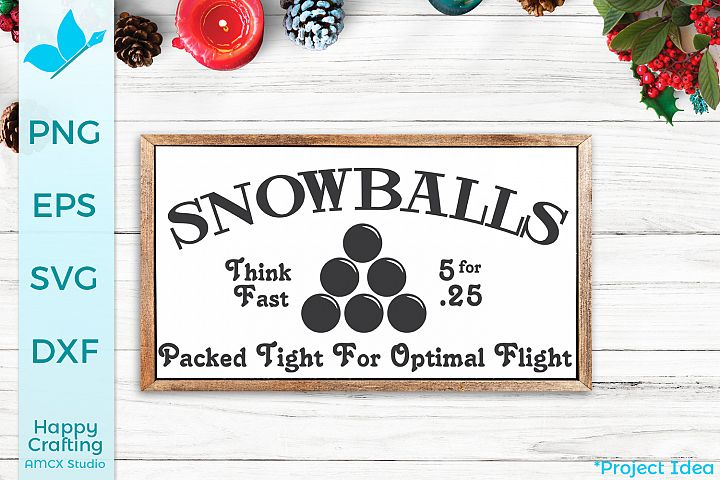 Snowballs for Sale - Winter SVG File