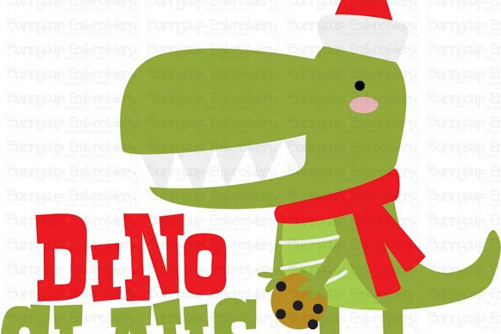 Dino Claus - SVG, Clipart, Printable example image 2