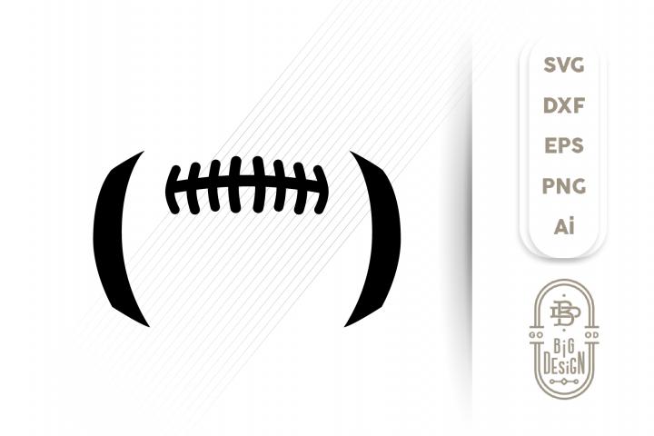 Football Ball SVG - Football laces SVG , Football stitches