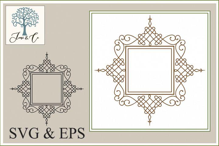 Border 03, An Ornate Border Illustration in SVG and EPS