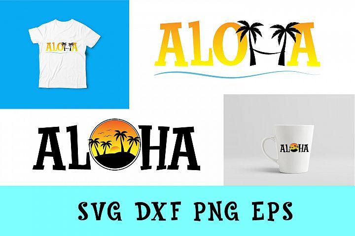 Aloha Svg Dxf Png Jpg Eps