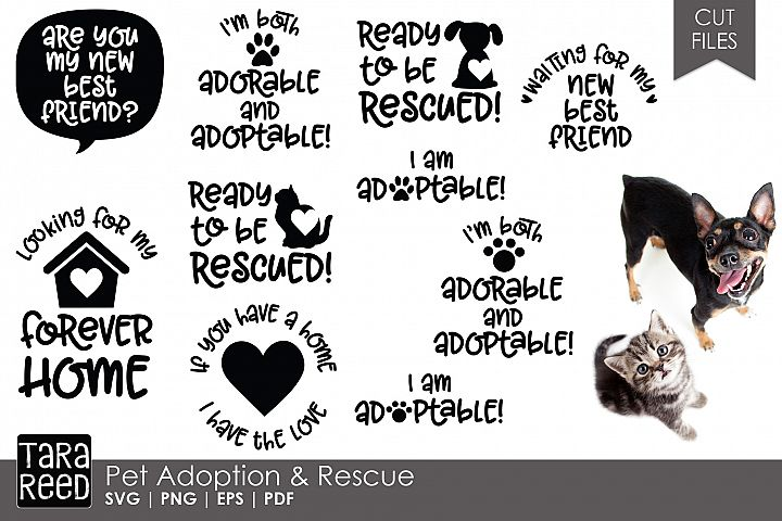 Pet Adoption and Rescue - SVG and Cut Files for Crafters