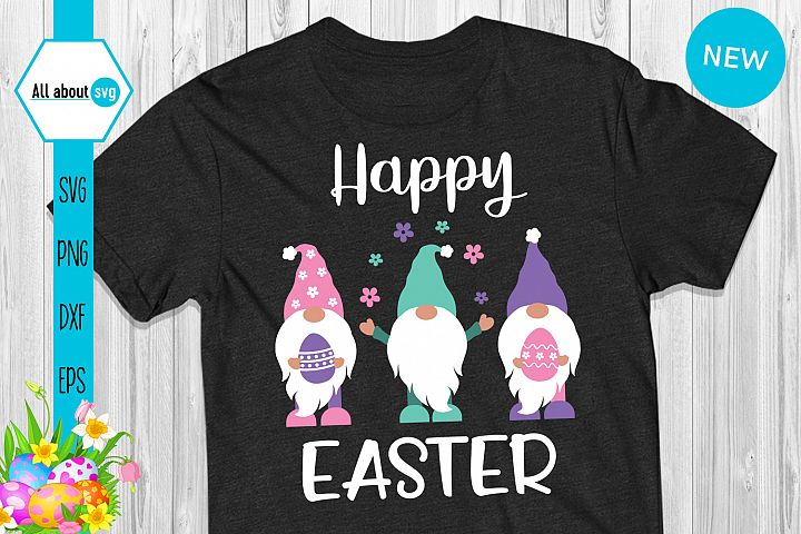 Happy Easter Gnomies Svg