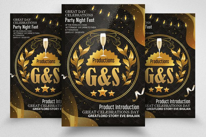 Product Introduction Party Night Flyer