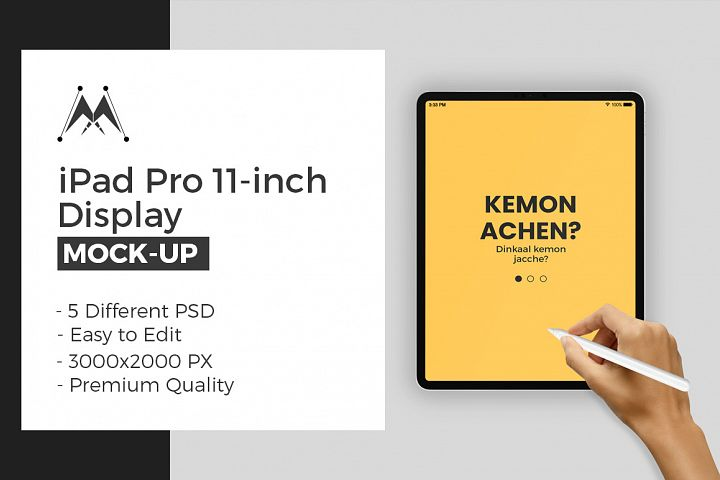 iPad Pro 11-Inch with Hand Mock-Ups