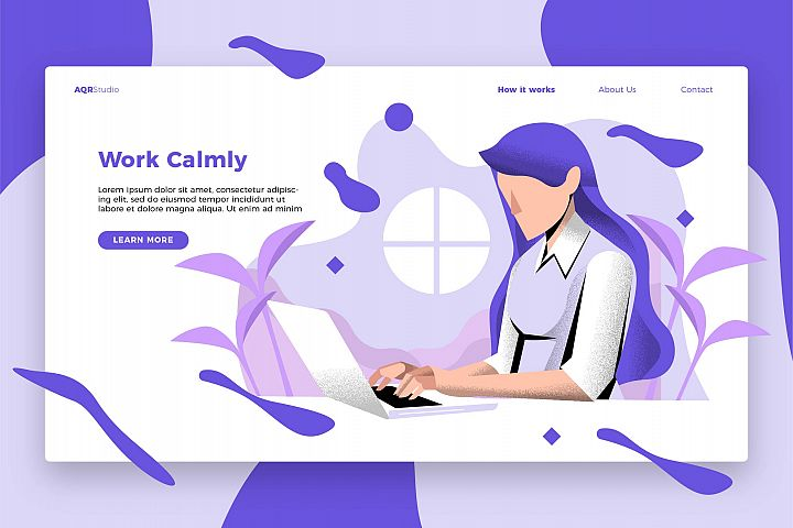 Work Calmly - Banner & Landing Page