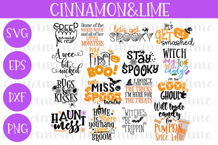 Halloween Bundle of 16 SVG Cut Files