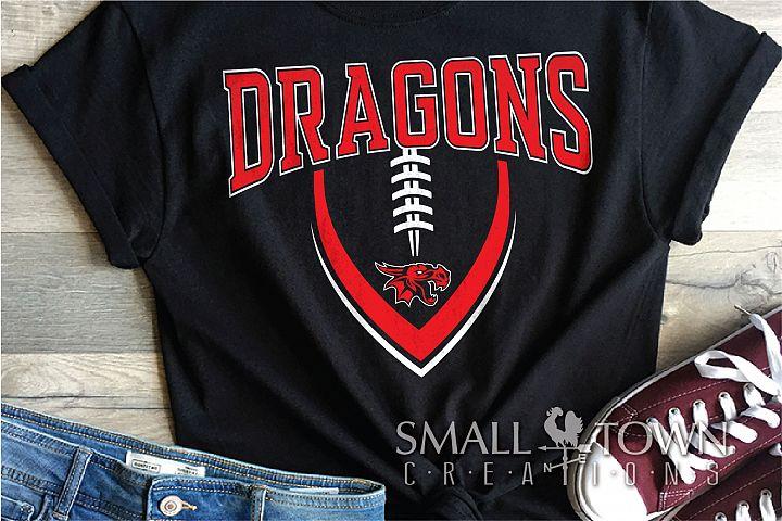 Dragon Football Logo, Team, Sport, PRINT, CUT & DESIGN