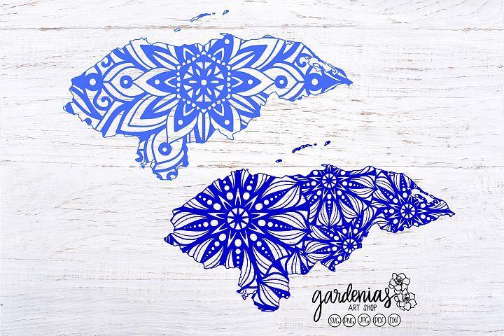 Honduras Mandala SVG | Honduras Mandalas Cut File | Clip Art