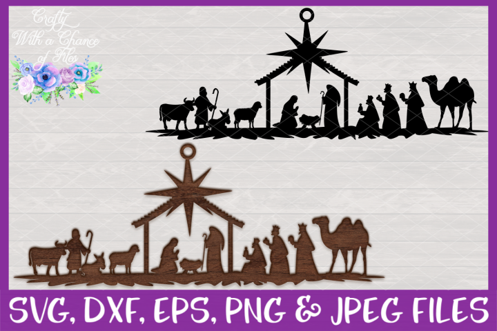 Nativity SVG - Laser Cut Christmas Ornament Design