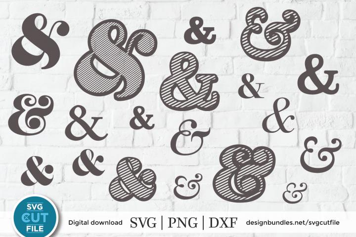 Ampersand svg, Ampersands bundle, Mr and Mrs dxf png file