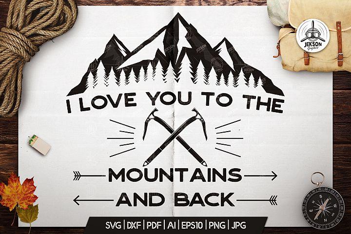 Mountain Adventure Badge Cricut, Vintage Camp Logo Patch SVG