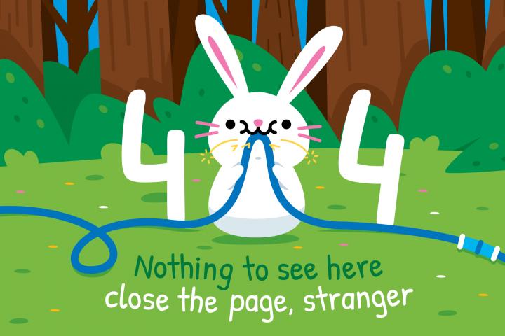 404 Funny Bunny Error Page