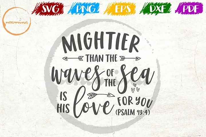 Mightier Than The Waves Kids Room SVG PDF PNG