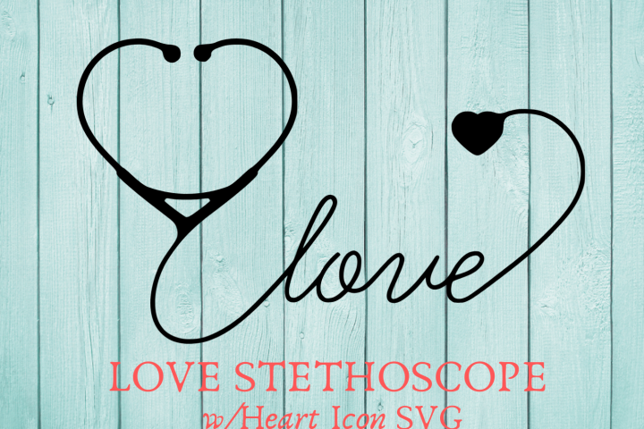 Love Stethoscope With Heart Icon SVG