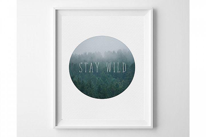 Boy Room Wall Art, Stay Wild Print, Baby Boy Wall Art
