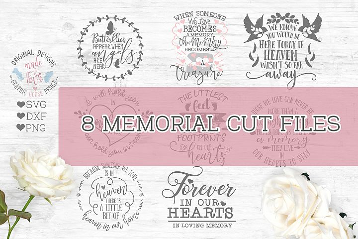 Memorial Cut File Bundle - In Loving Memory