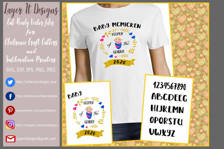 Keeper of the Gender / Gender Reveal T Shirt Design files