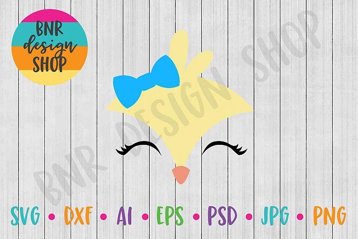 Easter SVG, Easter Chick SVG, Chick Face SVG, SVG File