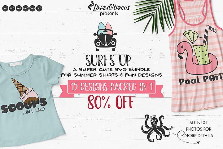 Surfs UP | Funny Summer SVG Bundle