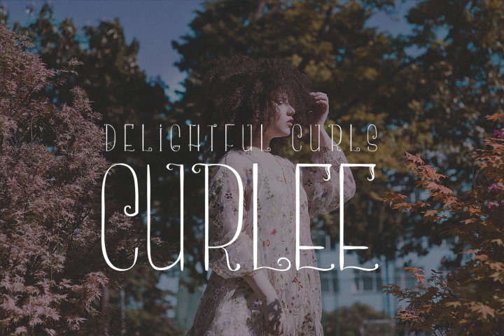 Curlee - A Thin and Curly Font