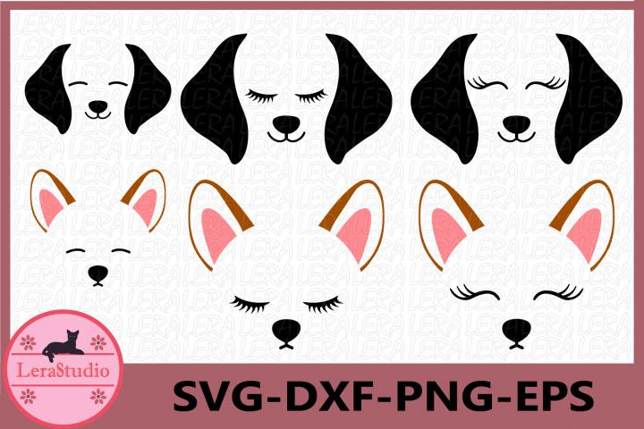 Dog Face SVG, Puppy Svg, Dog svg, Hound Dog Face, Clipart