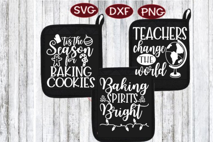 Baking Bundle, Holiday Baking Potholder Potholders Teacher