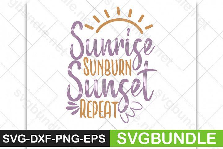 Sunrise sunburn sunset repeat SVG|Halloween SVG|Pumpkin SVG