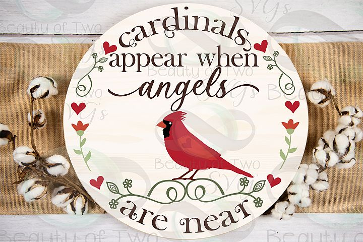 Red Cardinal Memoriam svg, angels appear svg, cardinal angel
