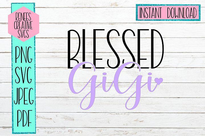 Blessed GiGi W/ Heart | GiGi SVG | SVG Cutting File