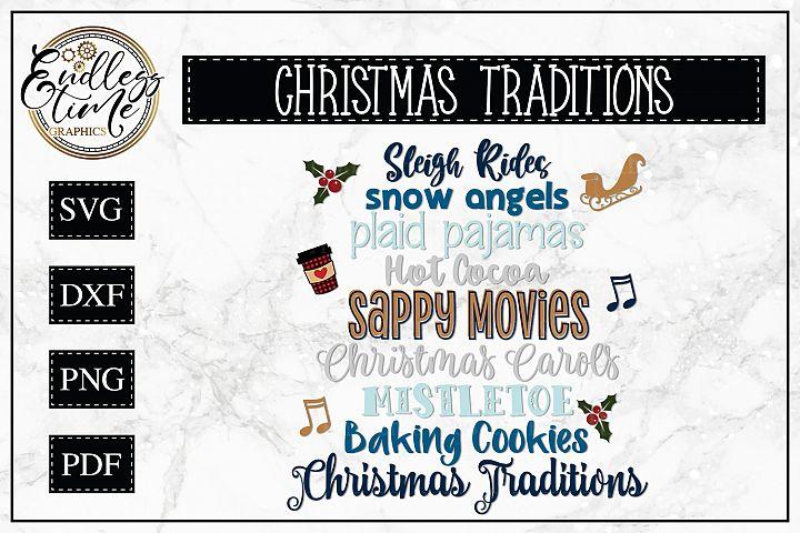 Christmas SVG - Christmas Traditions Word Collage