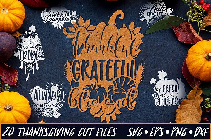 Thanksgiving SVG Bundle | Thanksgiving & Autumn SVG Quotes