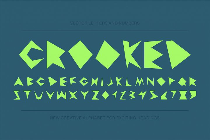 Modern english distorted alphabet