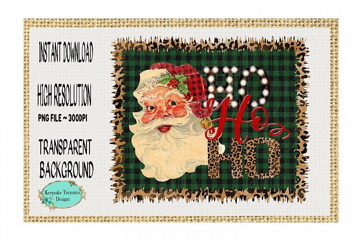 HO HO HO Vintage Santa