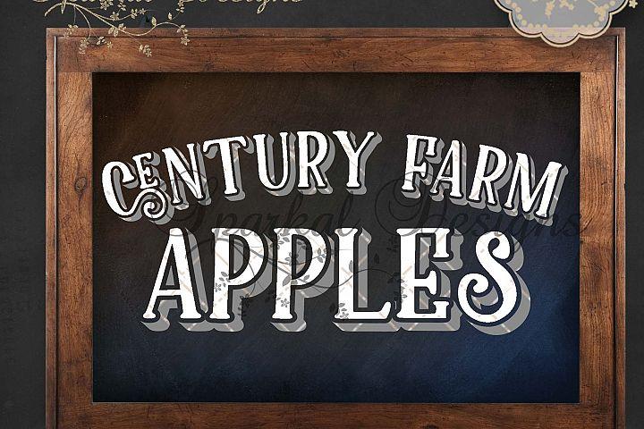 Century Farms Apples Cutting Stencil