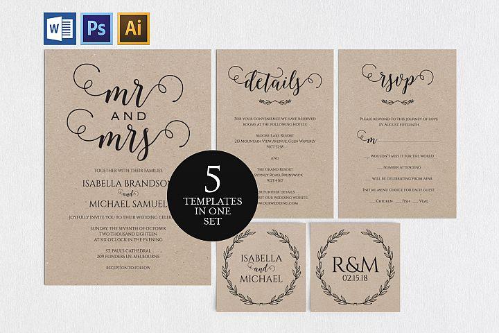 Wedding invitation set, TOS_10