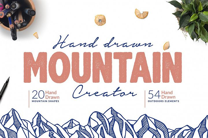Hand Drawn Mountain Creator Kit