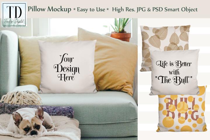 Pillow Mockup, Smart Object, SVG, PNG, Sublimation Mockup