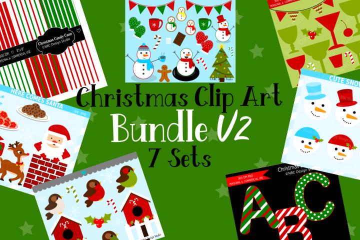 Christmas Clipart Graphics Bundle V2, Illustrations, Clipart
