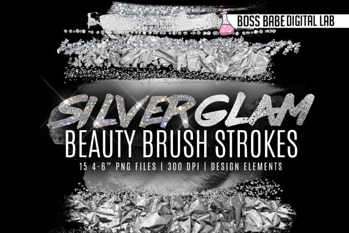 Silver Beauty Brush Strokes