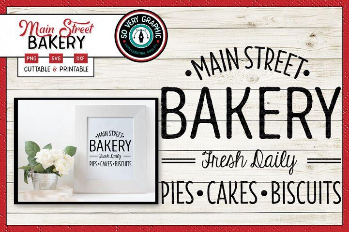 Main Street Bakery Sign | SVG | PNG Printable | Farmhouse